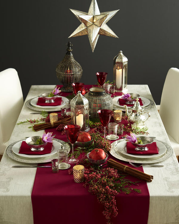 Ideas to decorate your christmas dinner table eat food Christmas decorations for the dinner table